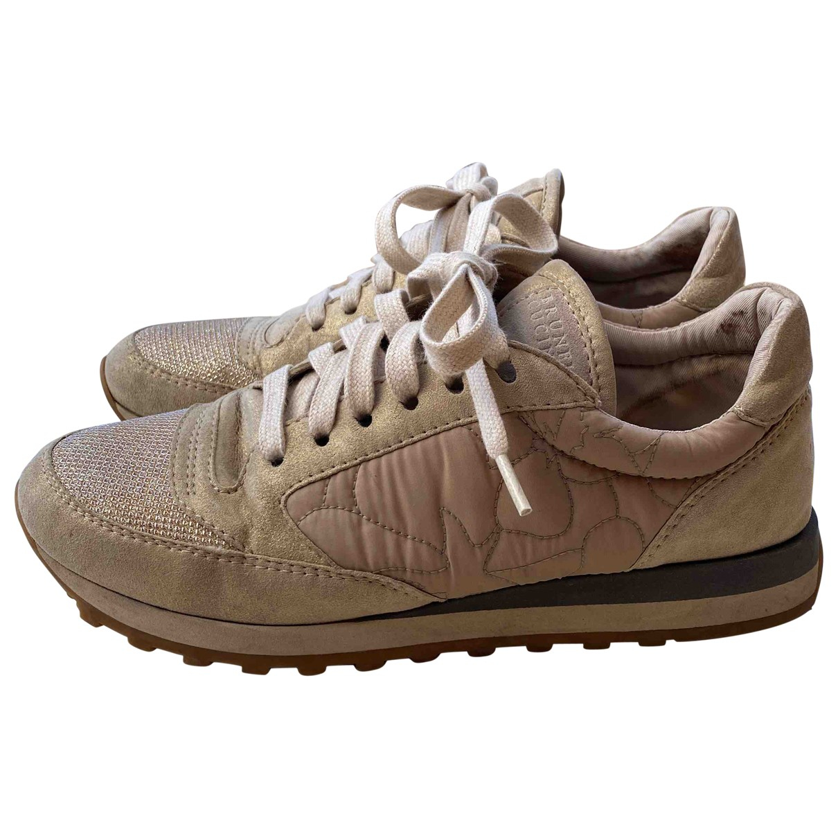 Brunello Cucinelli \N Sneakers in  Beige Veloursleder
