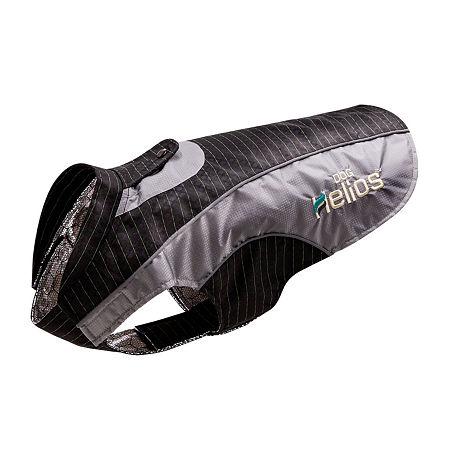 Dog Helios Reflecta-Bolt Sporty Performance Tri-Velcro Waterproof Pet Dog Coat Jacket with Blackshark Technology, One Size , Black