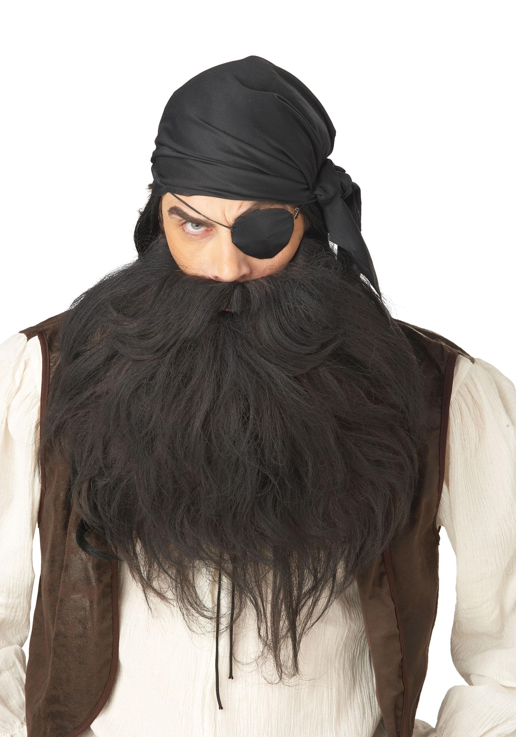 Men's Black Pirate Beard