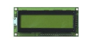 Fordata FC1602G01-RNNYBW-66SE FC LCD LCD Graphic Display, Green, Yellow on, 2 Rows by 16 Characters, Reflective
