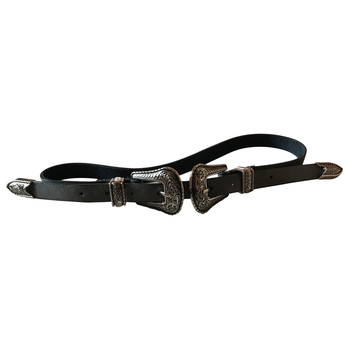 Non Signé / Unsigned \N Grey Leather belt for Women S International