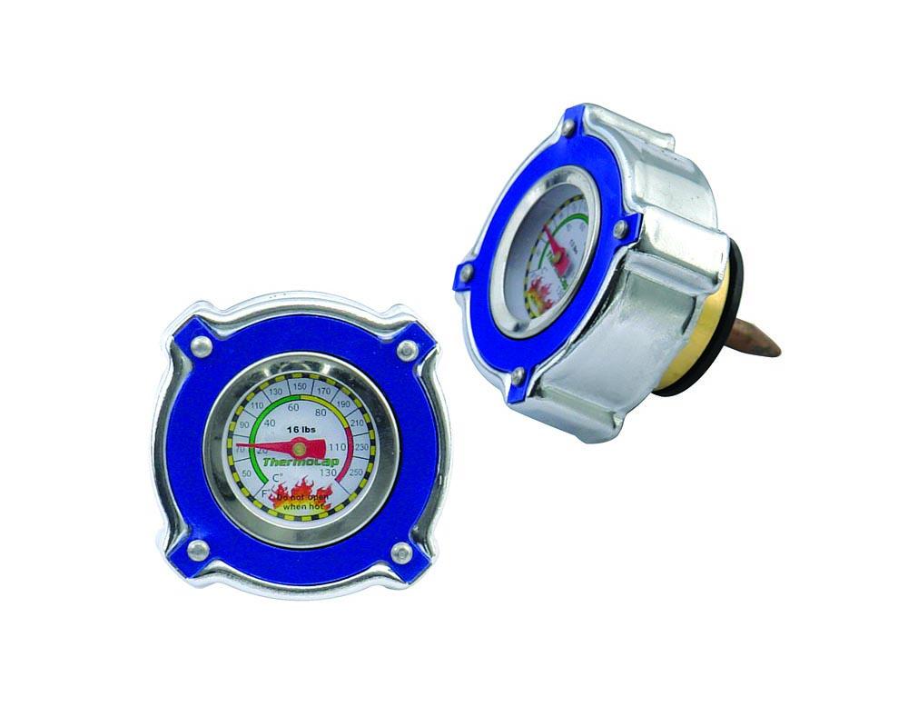 Mr. Gasket Thermocap - 16 PSI - Blue