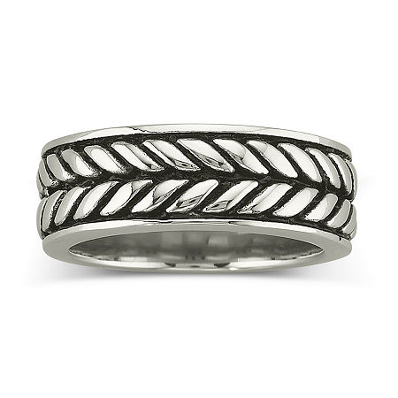 Men's Woven Band Stainless Steel, 10 , No Color Family