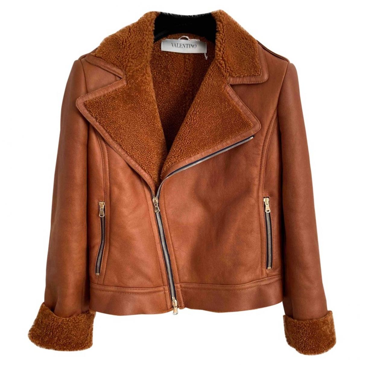 Valentino Garavani \N Brown Shearling jacket for Women 44 IT