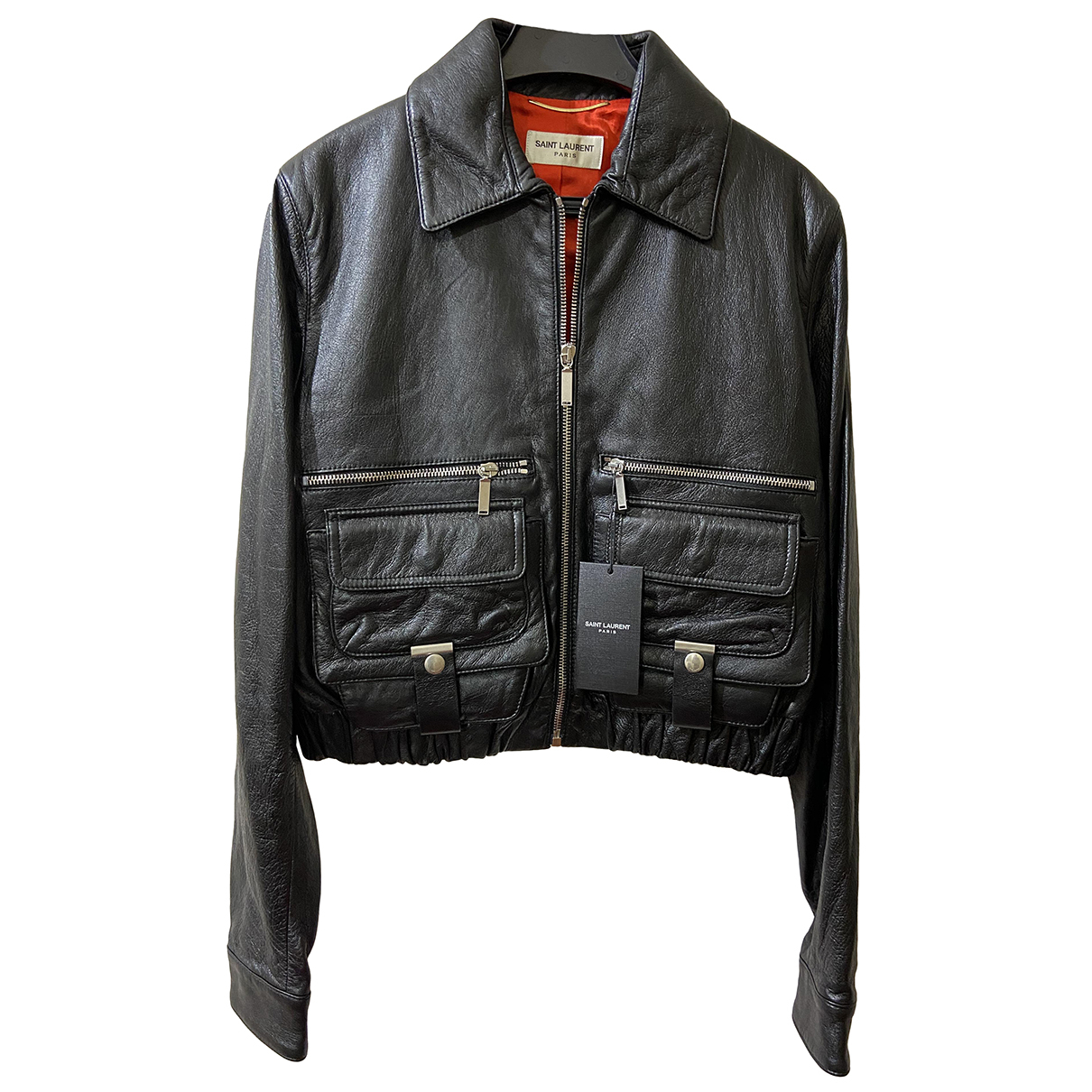 Saint Laurent N Black Leather Leather jacket for Women 40 FR
