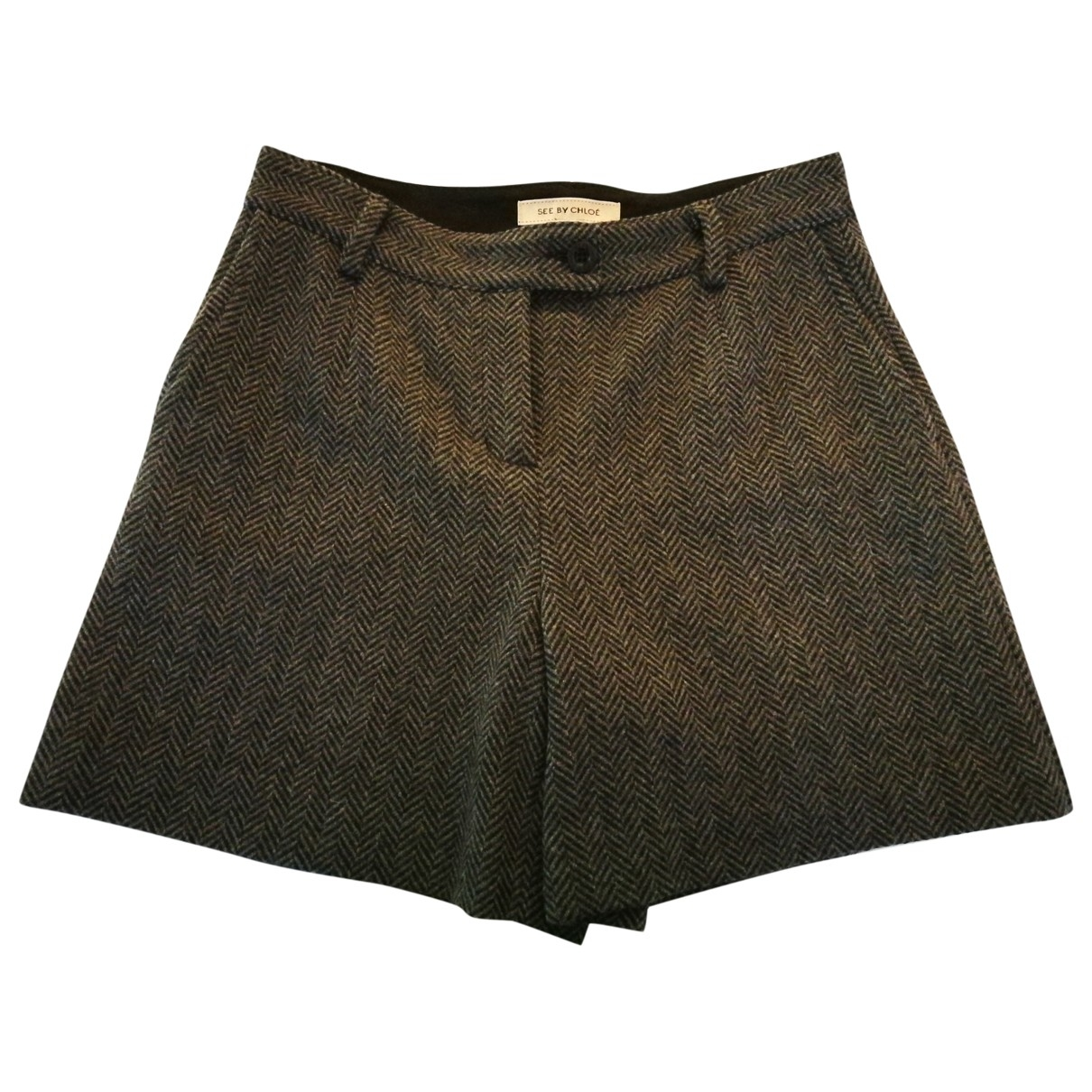See By Chloé \N Grey Wool Shorts for Women 36 FR