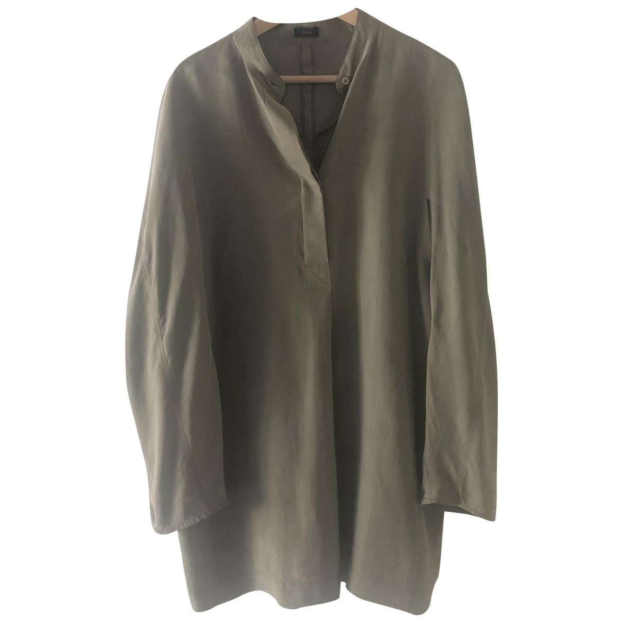 Joseph \N Khaki Silk dress for Women 38 FR