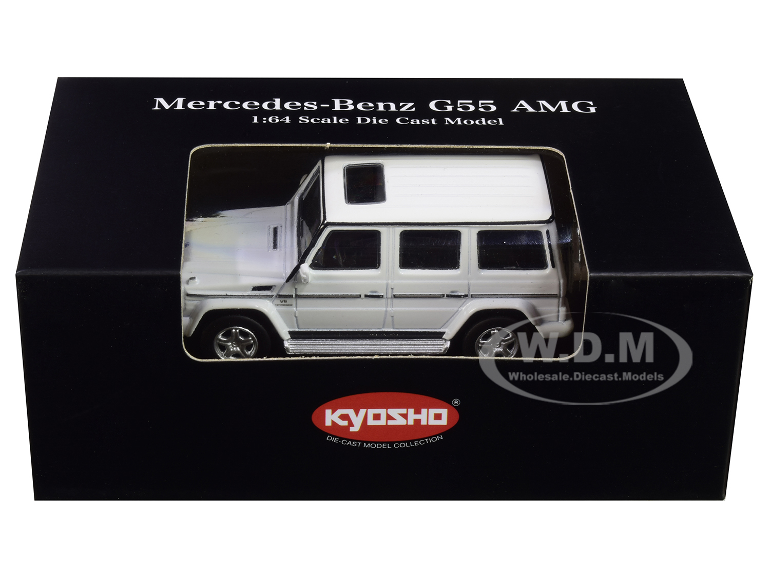 Mercedes Benz G55 AMG White 1/64 Diecast Model Car by Kyosho