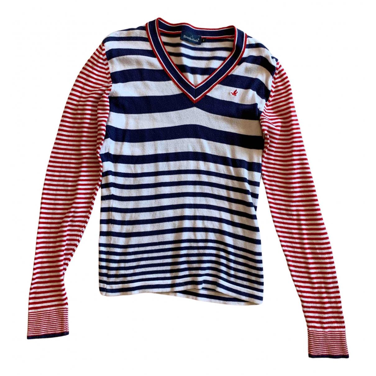 Brooksfield - Pull   pour femme en coton - multicolore