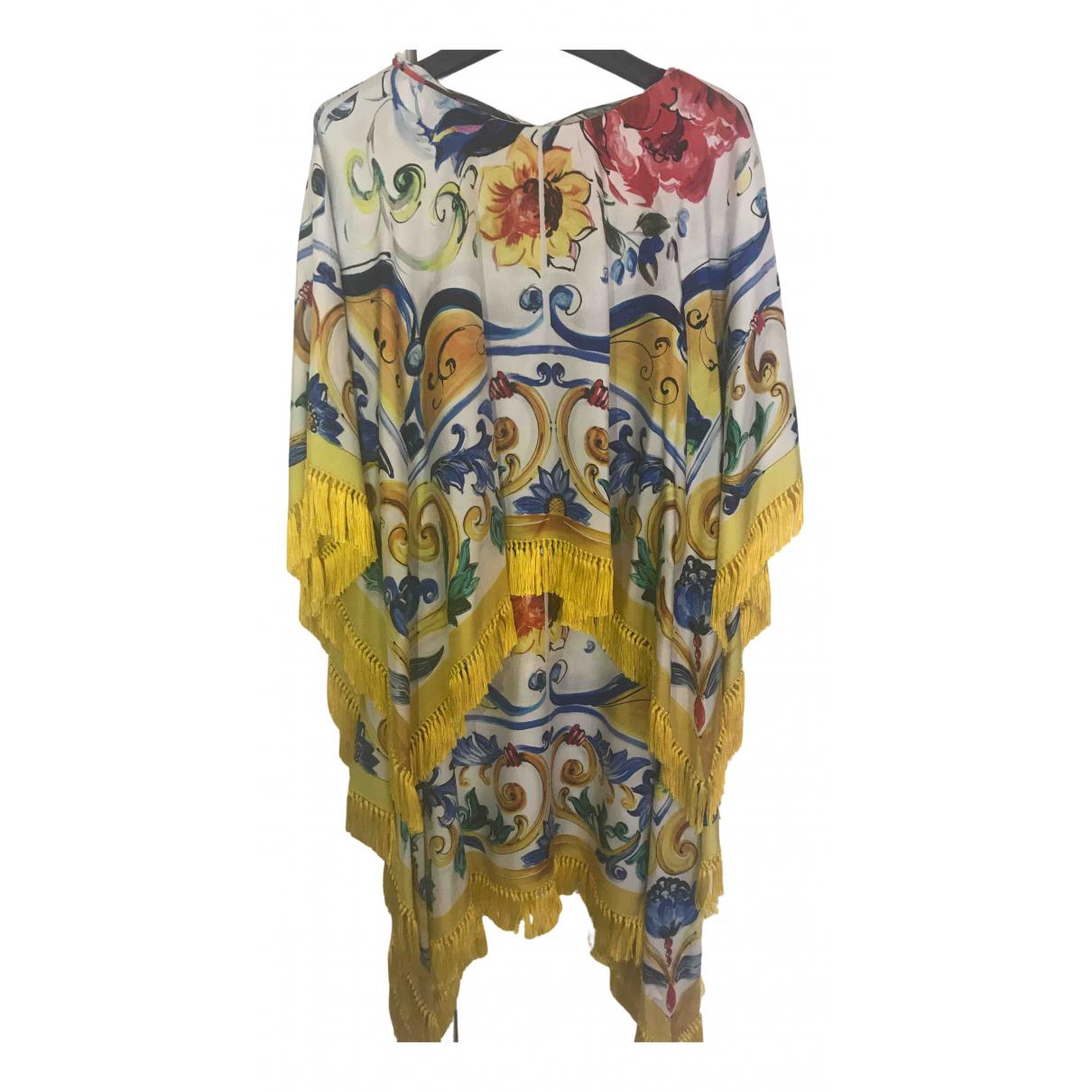 Dolce & Gabbana - Robe   pour femme en soie - jaune