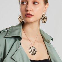 3pcs Leopard Print Jewelry Set