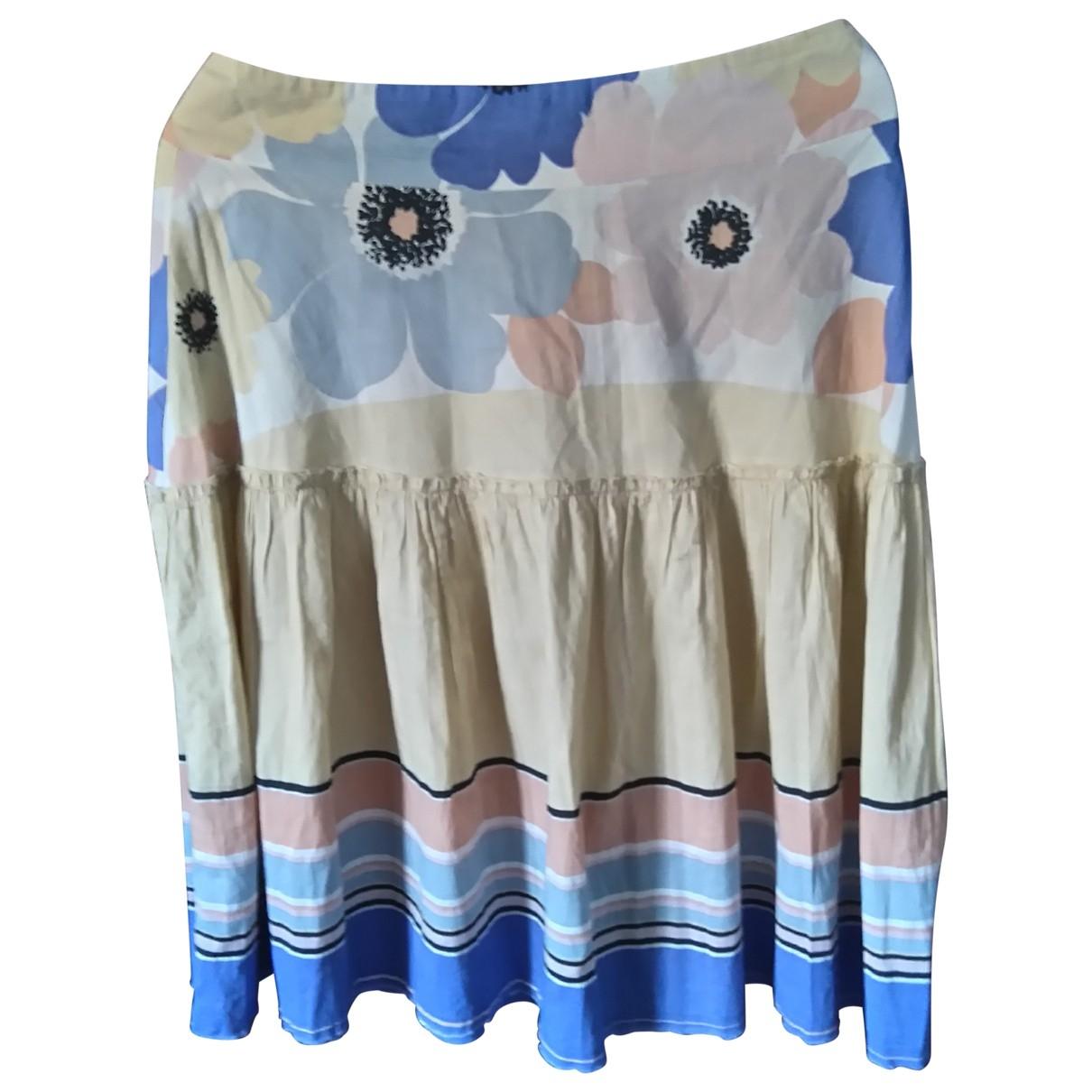 Marni - Jupe   pour femme en coton - multicolore