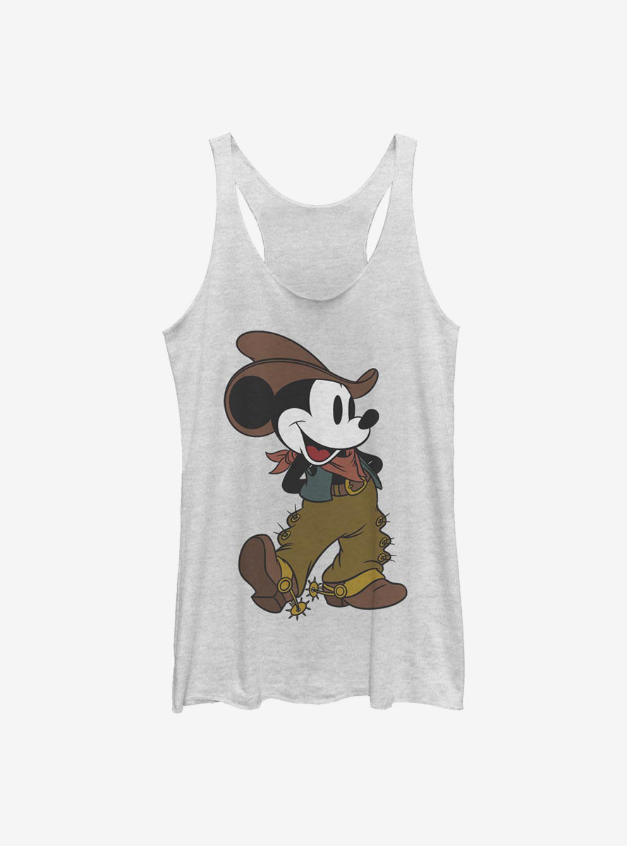 Disney Mickey Mouse Cowboy Mickey Womens Tank Top