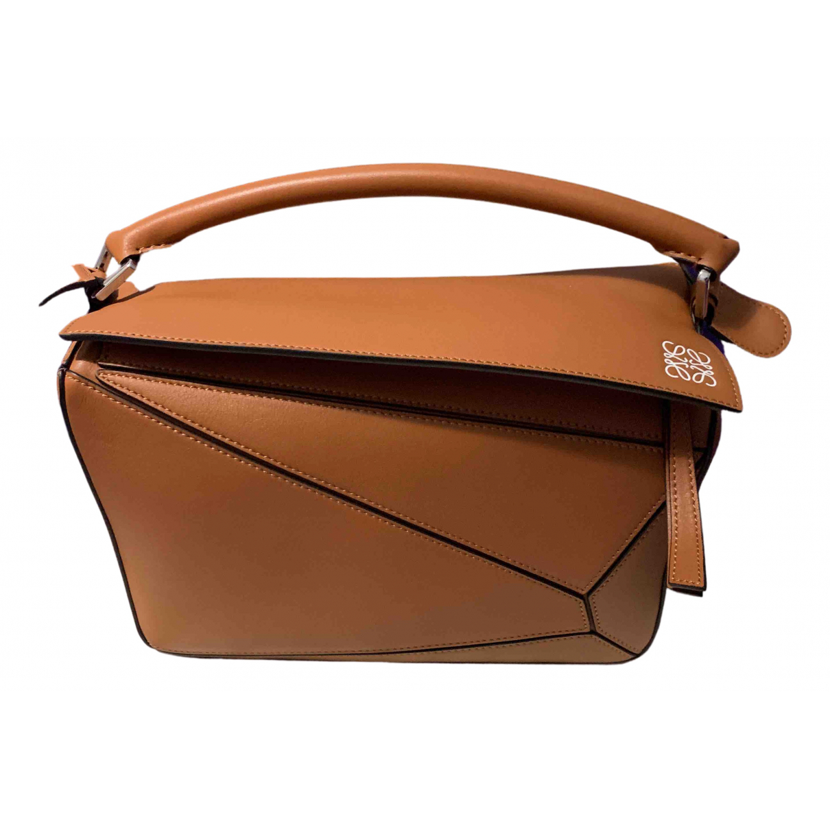 Loewe Puzzle  Camel Leather handbag for Women N