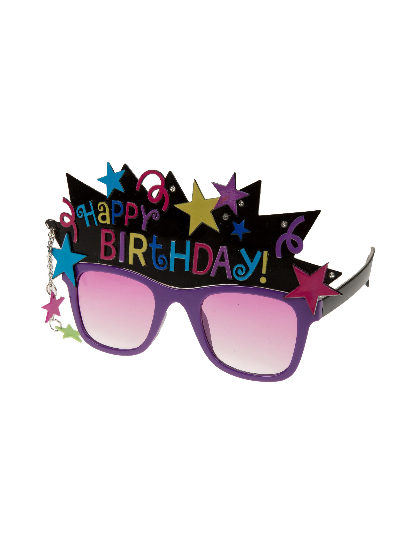 Kostuemzubehor Brille Happy Birthday Farbe: multicolor bzw. bunt