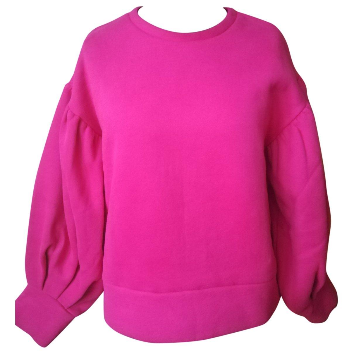 Weili Zheng \N Pullover in  Rosa Baumwolle