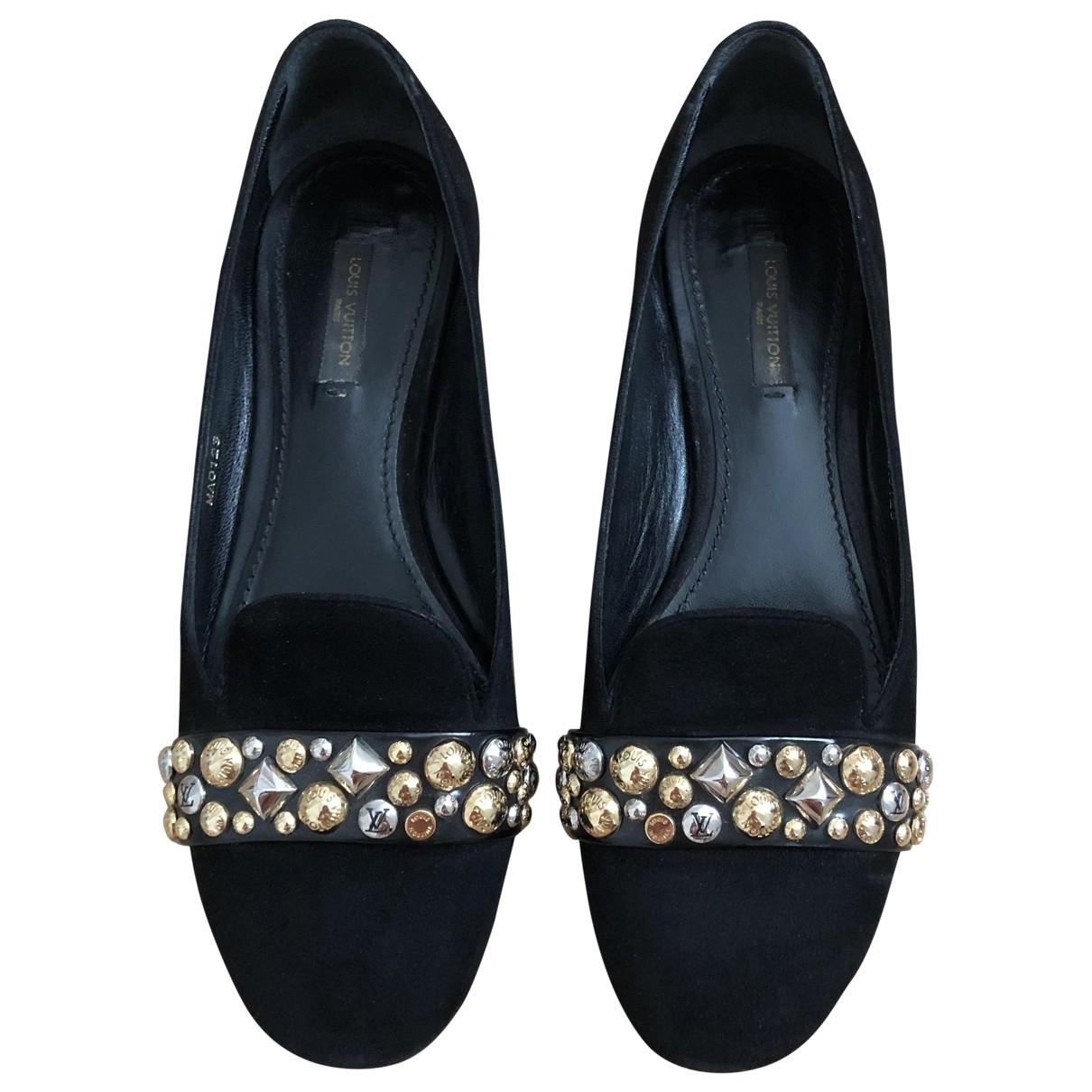 Louis Vuitton - Ballerines   pour femme en suede - noir