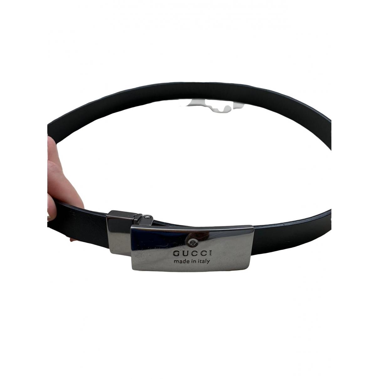 Gucci \N Black Leather belt for Women S International