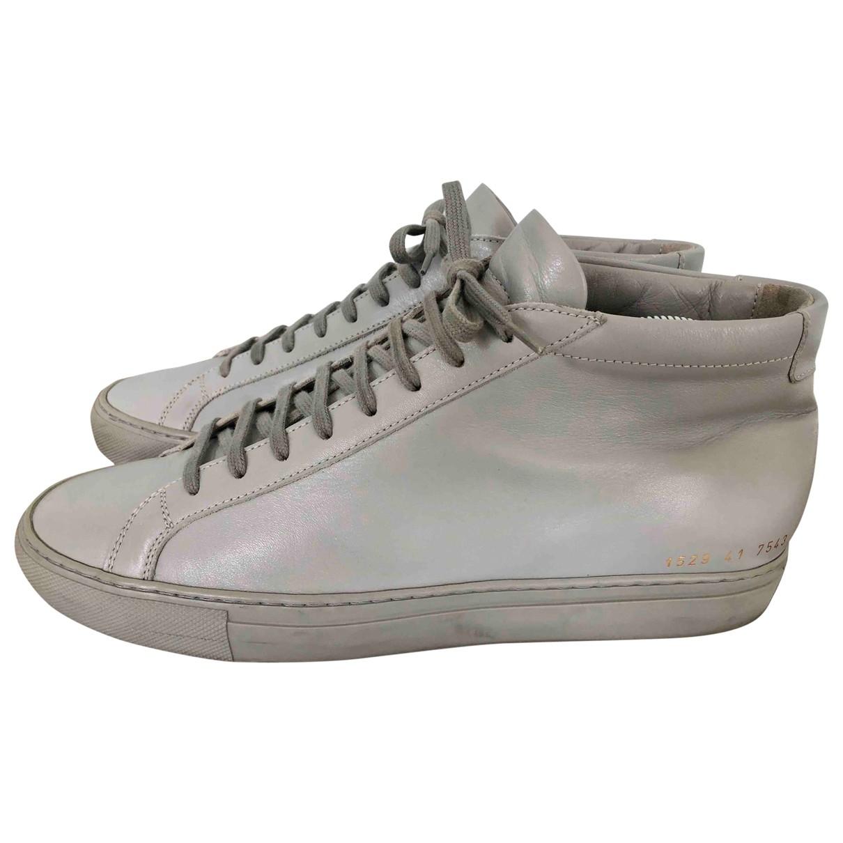 Common Projects \N Sneakers in  Grau Leder