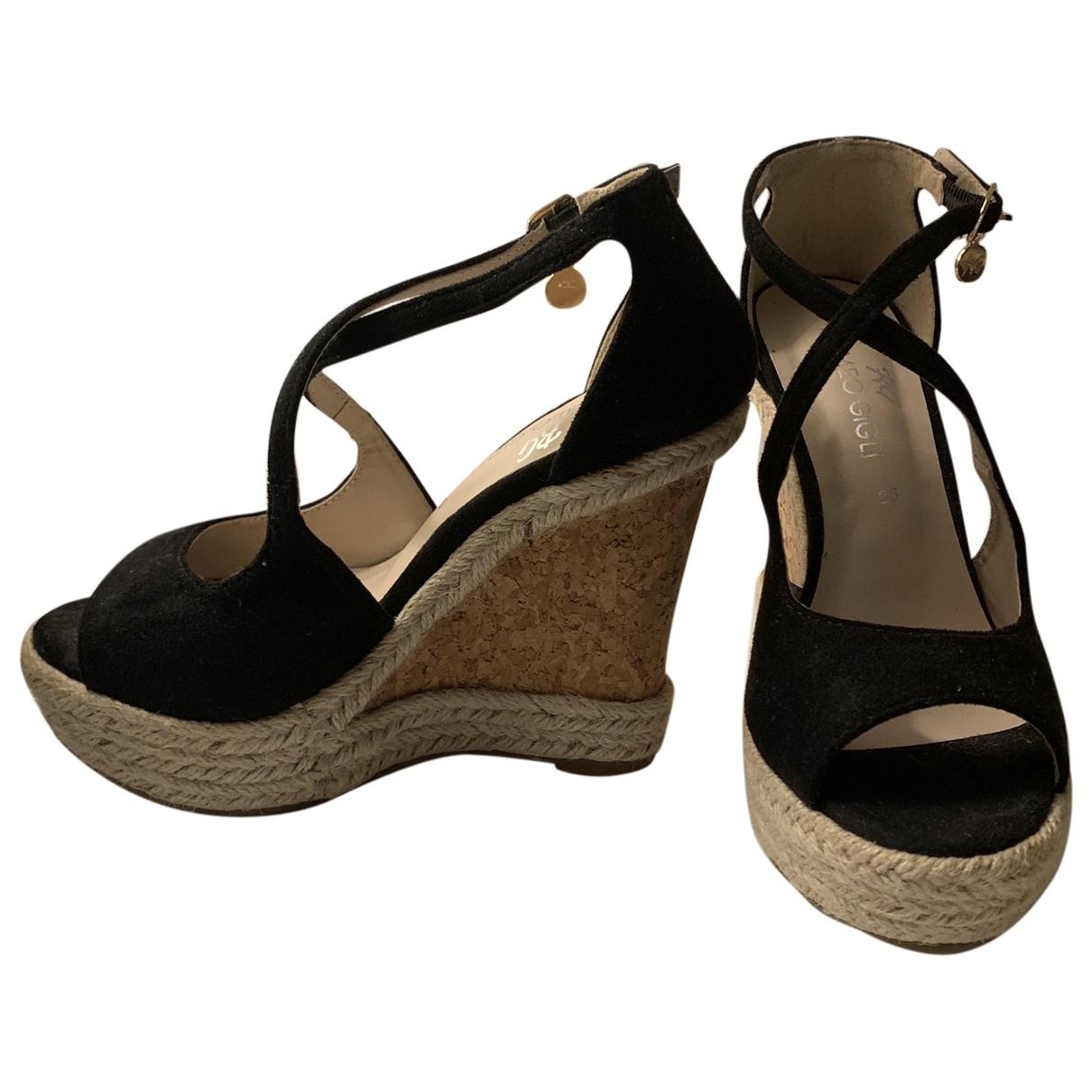 Romeo Gigli - Sandales   pour femme en cuir - noir