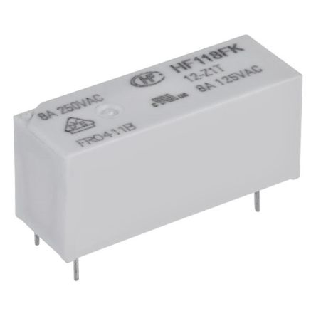 Hongfa Europe GMBH 5 Volt Coil, SPDT Contacts, 8A, AgSnO2 (20)