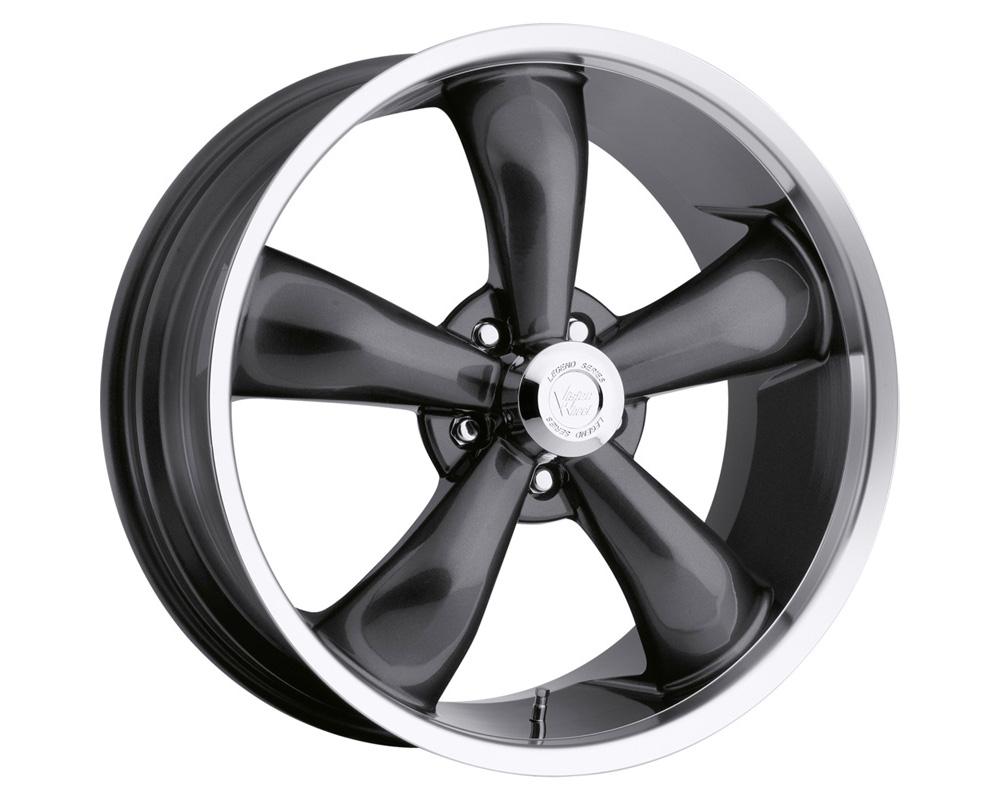 Vision Legend 5 Gunmetal Machined Lip Wheel 18x8.5 5x115 20mm