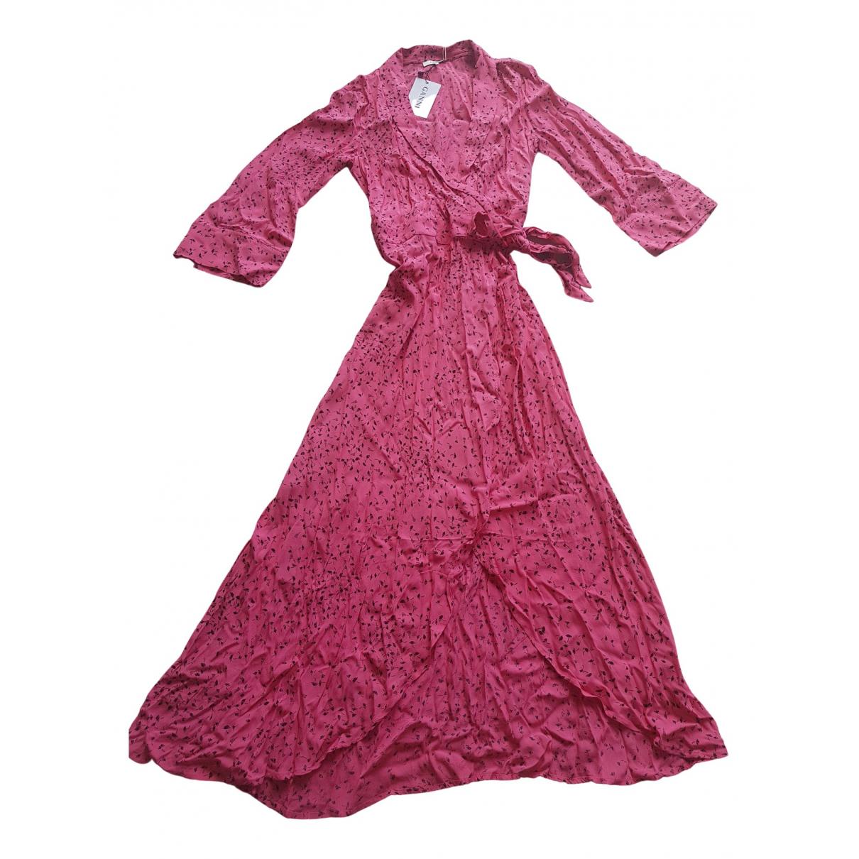 Ganni Spring Summer 2019 Kleid in  Rosa Synthetik