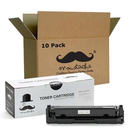 Compatible HP 410A CF410A Black Toner Cartridge - Moustache - 10/Pack