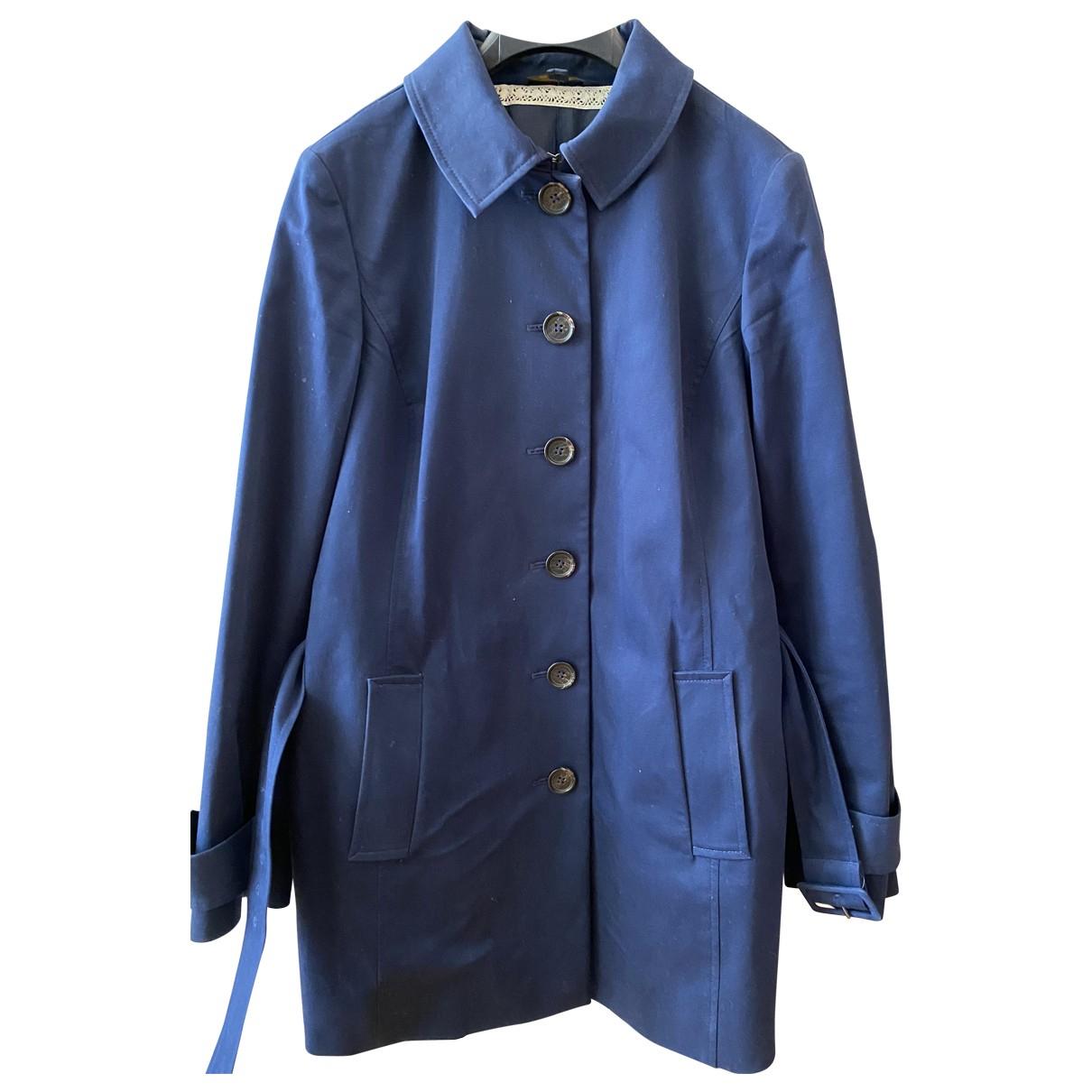 Brooks Brothers - Manteau   pour femme en coton - bleu