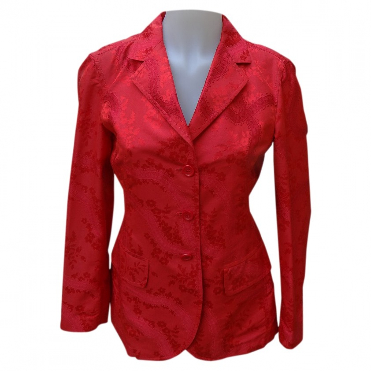 Prada \N Red Silk jacket for Women 38 FR