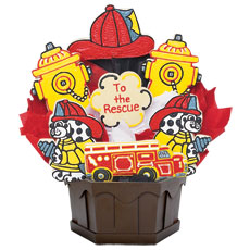 Firefighters Cookie Bouquet