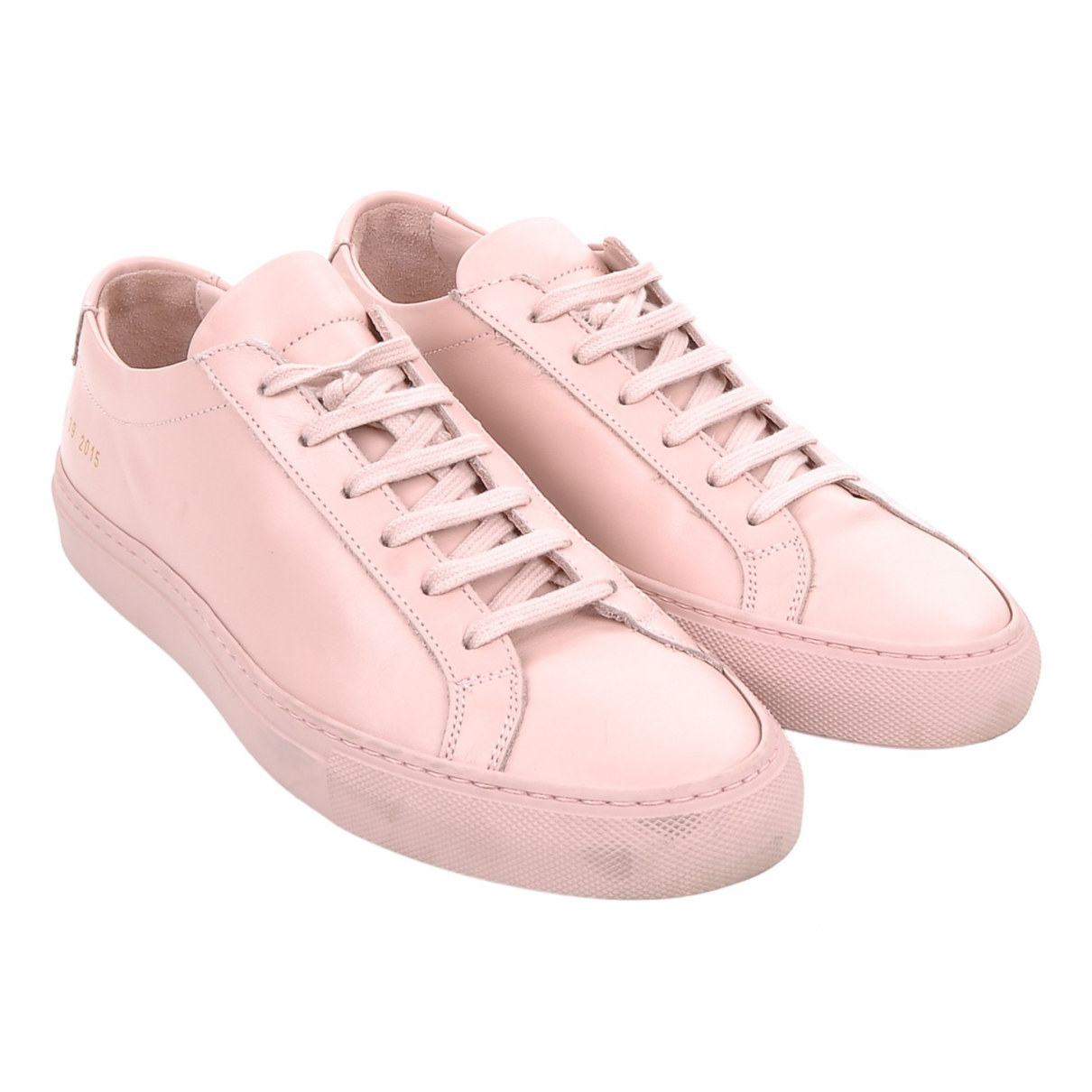 Common Projects N Pink Leather Trainers for Women 39 EU