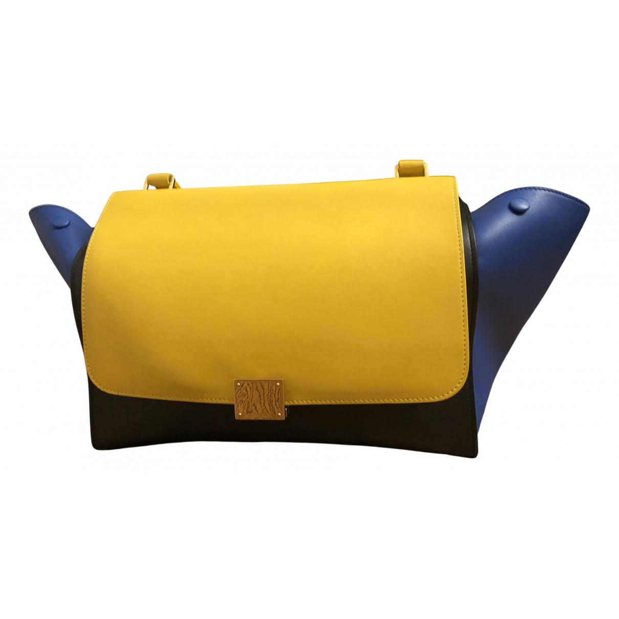 Celine Trapèze Multicolour Leather handbag for Women N