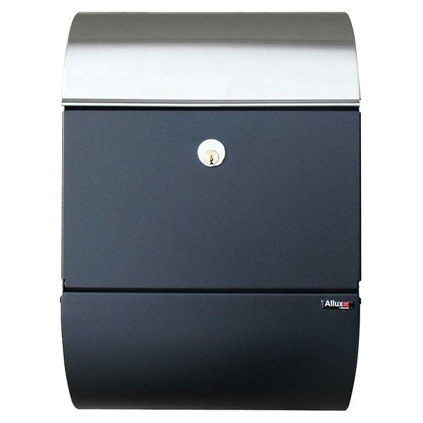 Allux 3000 Mailbox, Black and Stainless Steel