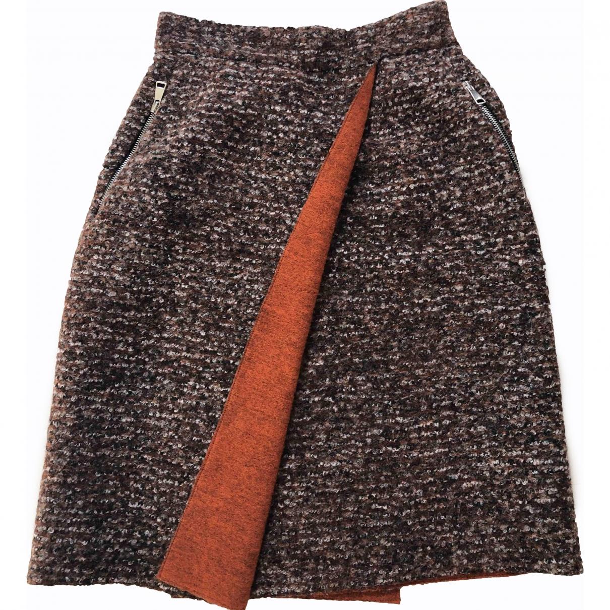 Jc De Castelbajac - Jupe   pour femme en laine - marron