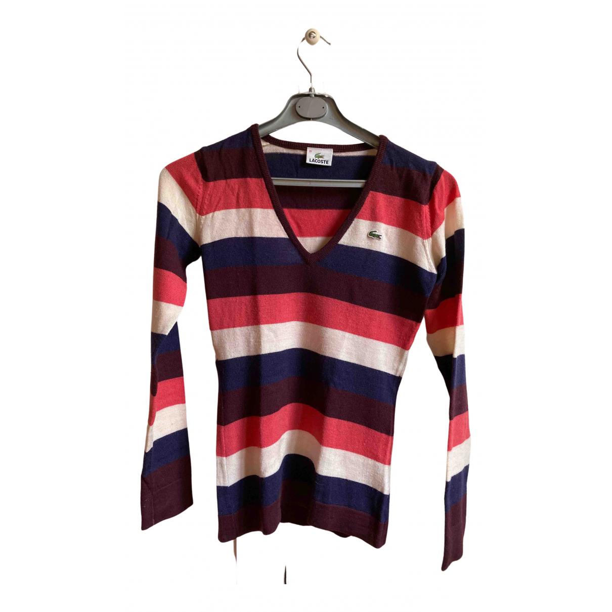 Lacoste - Pull   pour femme en laine - multicolore