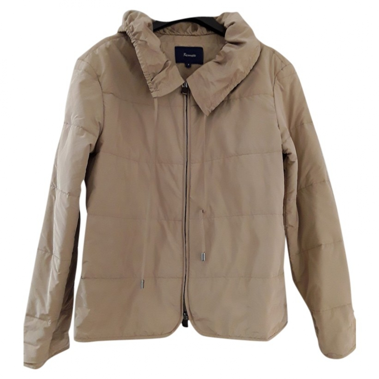 Faconnable \N Jacke in  Beige Polyester