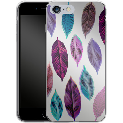 Apple iPhone 6 Plus Silikon Handyhuelle - Pink Leaves 2 von Mareike Bohmer