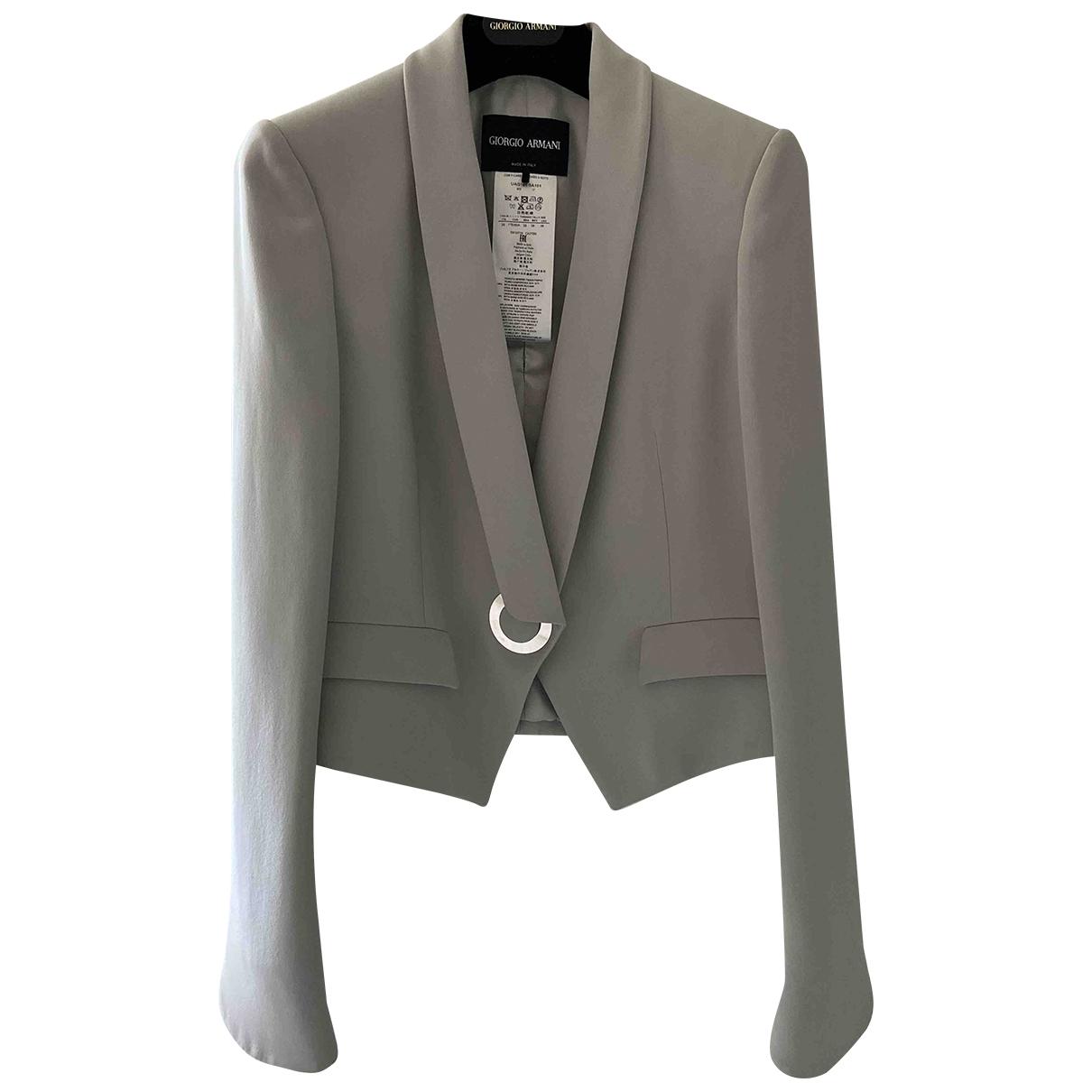Giorgio Armani - Veste   pour femme en soie - gris