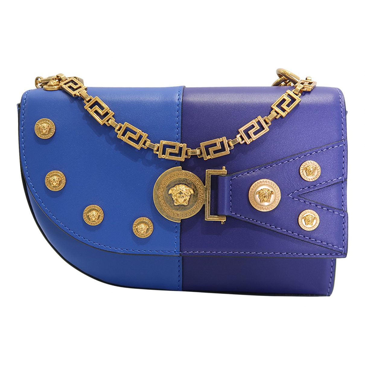 Versace N Blue Leather handbag for Women N