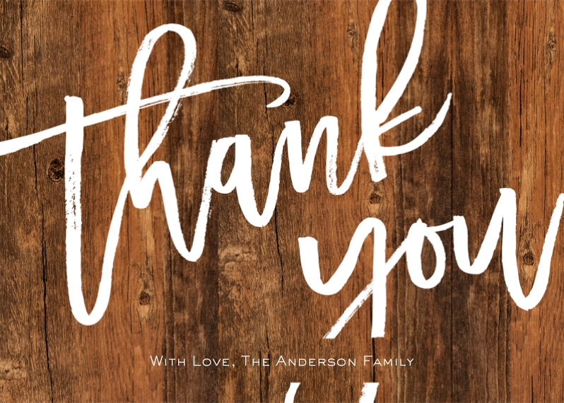 Thank You Cards 5x7 Folded Cards, Standard Cardstock 85lb, Card & Stationery -Thank You Script