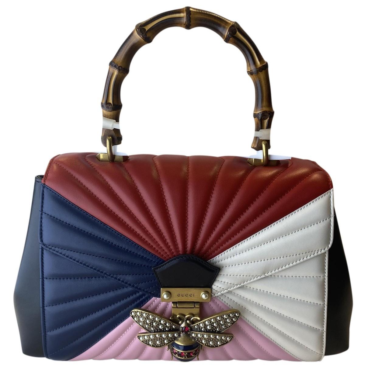Gucci Queen Margaret Handtasche in  Rot Leder