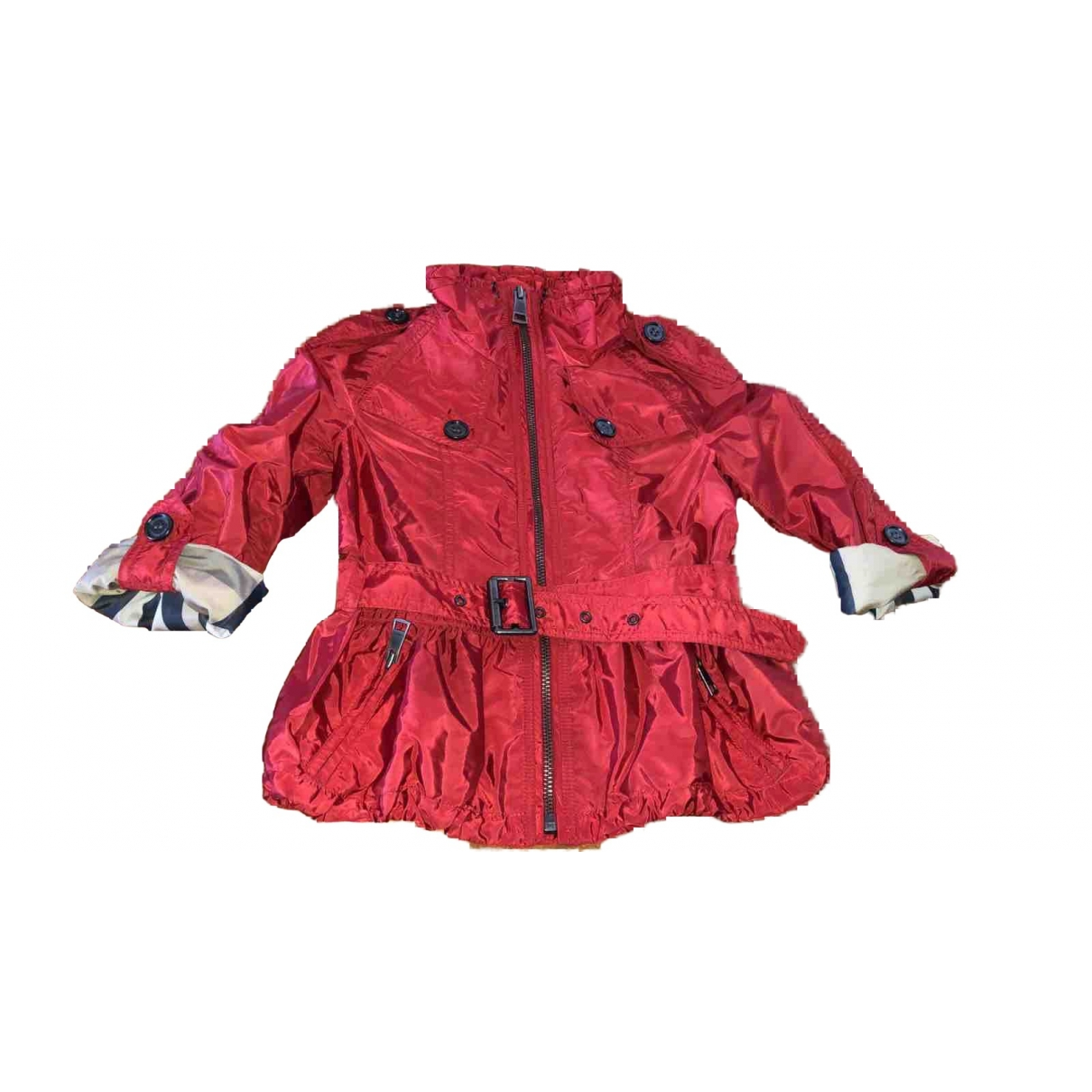 Burberry \N Jacke, Maentel in  Rot Polyester