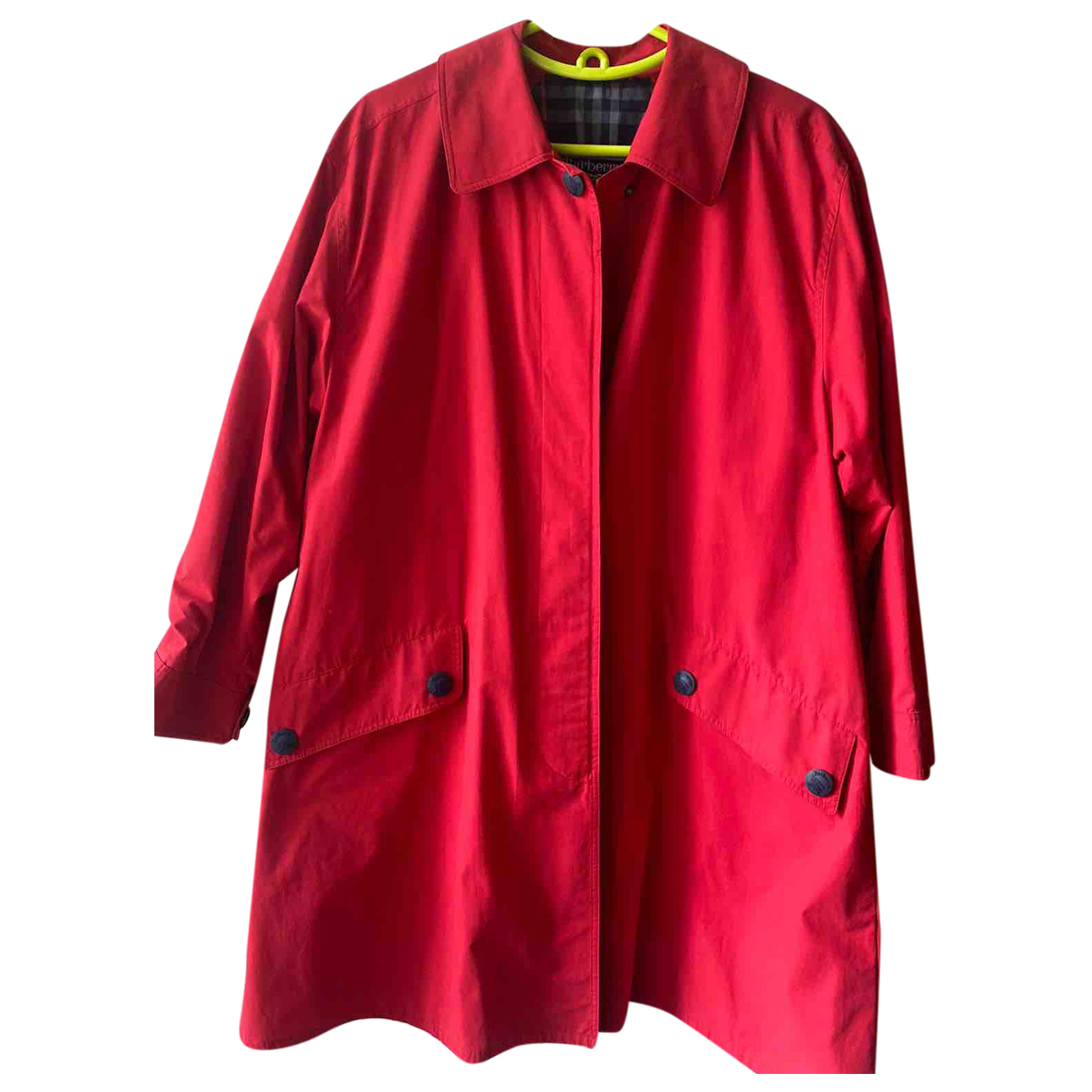 Burberry \N Trench in  Rot Polyester