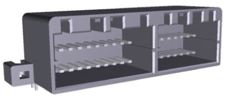 TE Connectivity , MULTILOCK 040 II 2.5mm Pitch 36 Way 2 Row Right Angle PCB Socket, Through Hole, Solder Termination