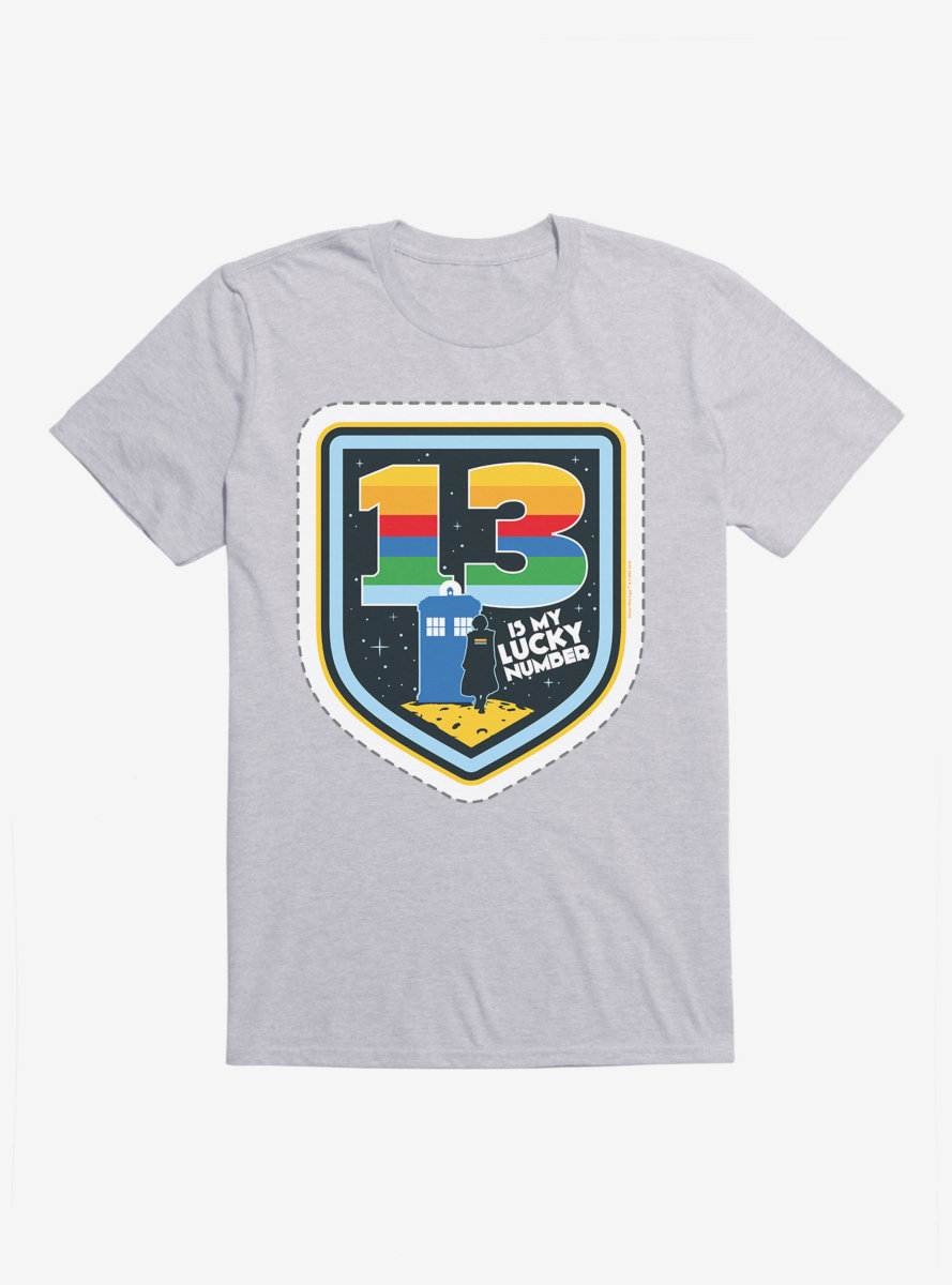 Doctor Who Thirteenth Doctor 13 Lucky Number Badge T-Shirt