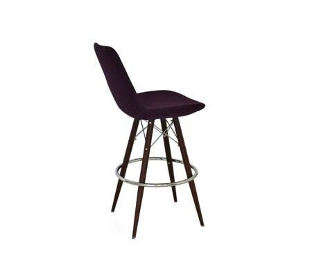 Sullivan 150-MCS-MW-BLW Tower Counter Stool with Black Wool