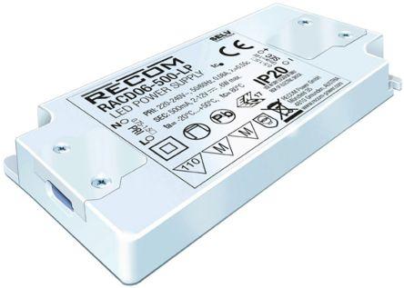 Recom RACD06-LP AC-DC Constant Current LED Driver 6W 2 → 12V dc