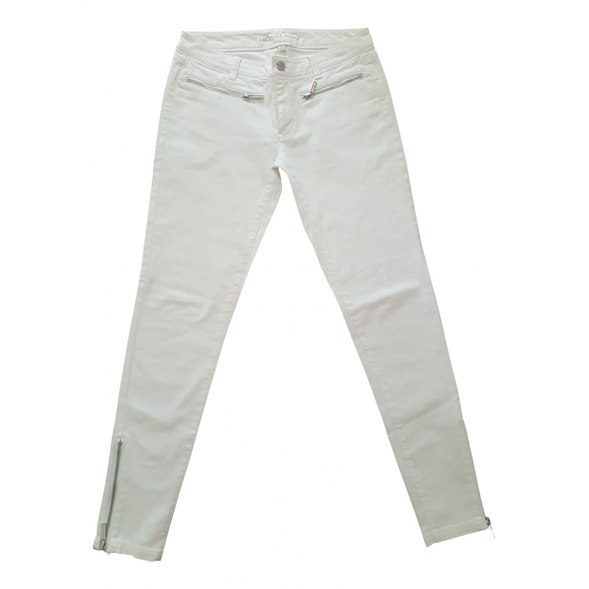Michael Kors \N White Cotton Trousers for Women 2 US