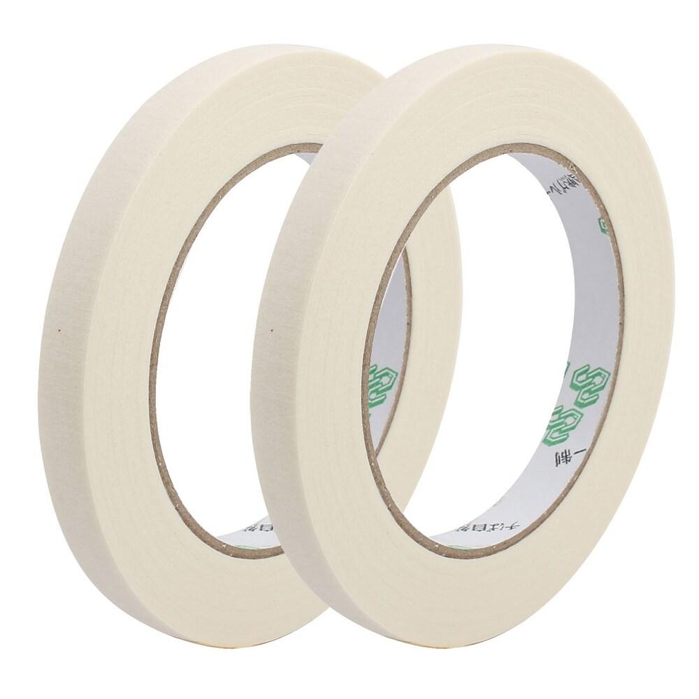 2pcs Adhesive Paper Painting Writing Decoration Tape White 1.2cm x 50M Length (White)